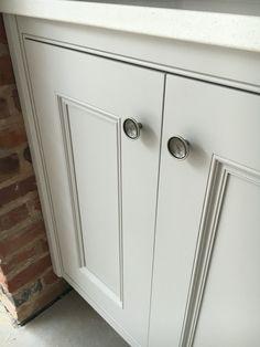 Edwardian bespoke hand painted cornforth White kitchen.