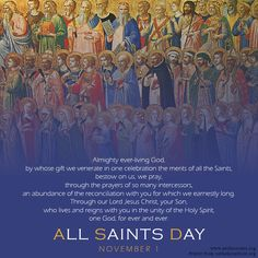 Prayer for the Solemnity of All Saints.