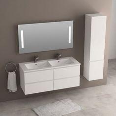 mobilier sous vasque en bois pour salle de bain mod le suspendu avec 2 grands tiroirs et une. Black Bedroom Furniture Sets. Home Design Ideas
