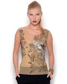 Jean Paul Gaultier Femme Embroidered Blouse- Made in Italy  Jean #BlouseWomen #Shirts
