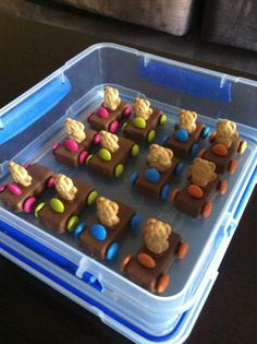 Tiny Teddy Cars - cute with or without smartie steering wheel (can also use life saver for steering wheel)