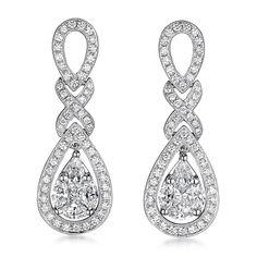 Jye Luxury Infinity Teardrop earrings