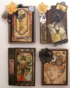 Handmade steampunk books