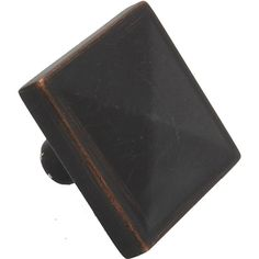 gliderite 1125inch oil rubbed bronze square pyramid cabinet knobs pack of 25