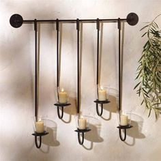Vanguard S/S wall candle holder