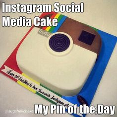 "#KatieSheaDesign ♡❤ ❥ Instagram Social Media #Cake ""My Pin of the Day"" via  @Sugaholic Bakeshop <-- #FF"