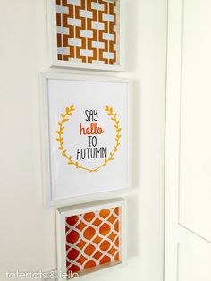 Say Hello to Autumn Free Printables! Perfect for your fall home decor!