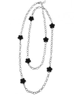 Love Me, Love Me Not Black Onyx Link Necklace