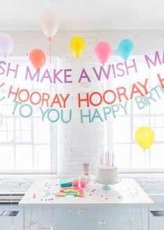 Happy Birthday Lyric Banner