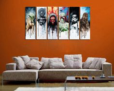 Genuine Real Hand Painted Star Wars Man 6 Pieces Canvas Oil Painting for Home Wall Art Decoration, Not a Print/ Giclee/ Poster, Unframed Star Wars Fan Art, Star Trek, Oil Painting On Canvas, Canvas Art Prints, Canvas Paintings, Star Wars Painting, Star Wars Crafts, Abstract, Artwork