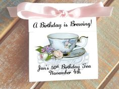 Rose Medley Pink White Rose Teacup Personalized Baby Shower or Bridal Shower Tea Bag Party Favors Te Coral Roses, White Roses, Pink White, Baby Shower Tea, Bridal Shower Party, Baby Showers, Tea Bag Favors, Party Favors, 70th Birthday Ideas For Mom