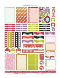 Free Printable Planner Stickers - Summer - Happy Planner
