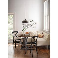 Home Decorators Collection Easton 3-Piece Linen Breakfast Nook in Beige Linen-2168900810 - The Home Depot