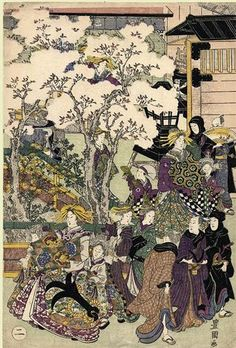 The Promenade - Утагава Тоёкуни