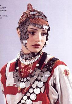 Traditional Costume of the Anatri Chuvash Women | The Chuvash live in the mid-Volga region, and the capital of the Chuvash Republic is Cheboksary.