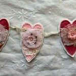Shabby Valentine Heart Garland