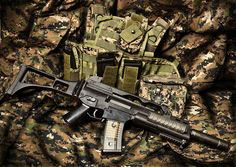 The G36 series by Heckler & Koch are such slick guns