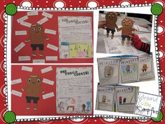 The Gingerbread Man Loose in the School! Two-part blog series with LOADS of ideas for your gingerbread unit! | Around the Kampfire