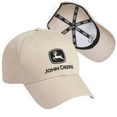 44ba0ec8e81c1 John Deere Khaki Twill Cap with Black Logo – GreenToys4u.com
