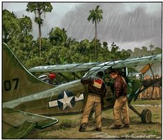 This thread is intended for 'Aviation Art' only. Paintings, Drawings, Water-colors and any other Mediums of Art. we have other threads available to post photos in. Piper Aircraft, Ww2 Aircraft, Military Aircraft, Military Art, Military History, Military Uniforms, Photo Avion, Mediums Of Art, Military Drawings