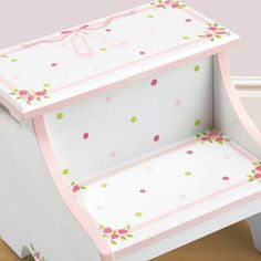 Image detail for -Hand Painted Furniture Designs on Ballet Hand Painted Step Stool