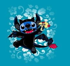 Stitch cosplays as Toothless in today's Tee Fury tee