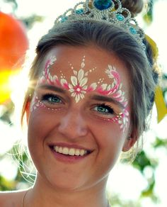 tropical face painting - Google Search