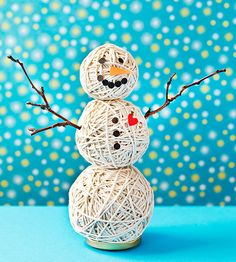 #Frozen fans will melt over this all-seasons string snowman! Get step-by-step instructions to make him at home from our friends at @Phyllis Garcia magazine.