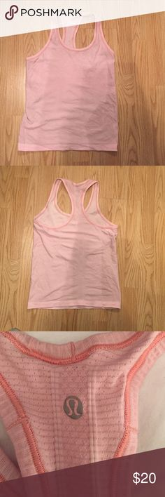 Lululemon Racerback Tank Pale pink racerback tank, soft and breathable lululemon athletica Tops