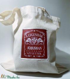 Képes textil táska, bevásárló táska, ajándék táska, retáska, ökotáska szülinapra a július szülötteinek.  (Biborvarazs) - Meska.hu