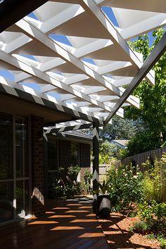 Rose Garden Origami - a custom-designed garden pavilion in Melbourne