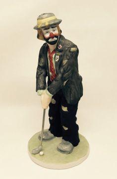 """Emmett Kelly, Jr. """"Golfer"""" Figurine by Flambro"""
