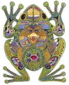 <3 Frog symbolizes Luck, Purity, Rebirth, Renewal, Fertility, Healing, Metamorphosis, Transitions, Dreaming, Opportunity,Intermediary. Rãs e sapos são associados às águas e à Lua e, por essa via, à fertilidade e ao reino feminino. Ambos passam por 1 processo de metamorfose a partir do girino, daí serem 1 símbolo de ressurreição. A rã era 1 emblema de Afrodite, e Heket, a deusa egípcia do nascimento assumiu a forma de 1 rã. O sapo por ter sido associado à bruxaria tem um simbolismo mais…