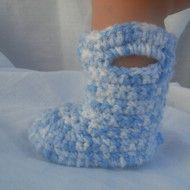 crochet baby Rainboots