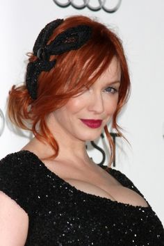 Christina Hendricks hairstyle  See more at: http://www.thatdiary.com/ for more lifestyle guide + fashion + hair  +beauty  #hair #beauty #redhead