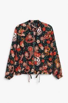 Zip-up blouse