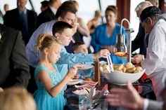 Strolling dinner concept | Infinity and Ovation Yacht Charters | Photo: Dziekonski Photography