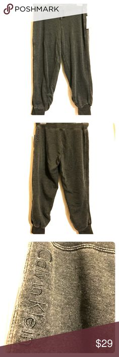 NWT Calvin Klein Sweats/Capris Awesome capris with cuffed legs Calvin Klein Pants Track Pants & Joggers