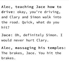 Definitely Simon … alexander 'alec' lightwood, jace herondale, shadowhunters, the mortal instruments The Mortal Instruments Art, Mortal Instruments Wallpaper, Immortal Instruments, Shadowhunters The Mortal Instruments, Musical Instruments, Alec And Jace, Clary And Jace, Book Memes, Book Quotes