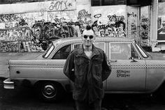 Robert De Niro on the set of Taxi Driver, New York City, 1975. Photo by Steve Schapiro.