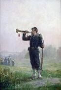 The Bugle - a 19th Century painting