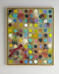 """""""Mod Artist\'s Palette"""" Painting by Rosenbaum Fine Art at Horchow. Possibly behind banquette."""