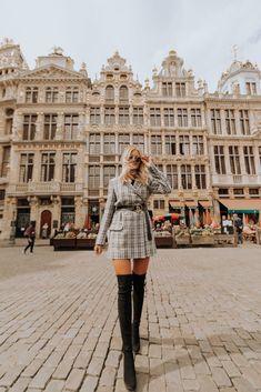 Amber Fillerup in Brussels