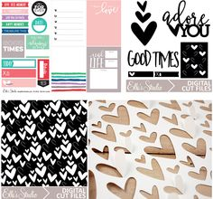Exclusive January digital files from Elle's Studio - scrapbooking, Project Life, etc.