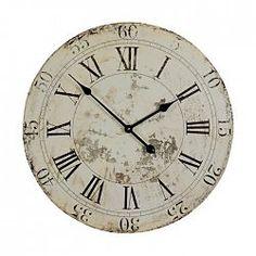 Nostalgische Wanduhr ca. D:60 cm, natur  <p>Material: Mischholz</p> <p>Farbe: natur</p> <p>Maße: ca. D:60cm</p> <p></p> <p>Diese schicke Uhr ist nicht nur ein verlässlicher Zeitmesser, sondern bereichert Ihr Zuhause auch um ein attraktives Deko-Objekt. Das angesagte Vintage-Design und die klassische Eleganz strahlen Klasse aus und bilden einen stilvollen Blickfang, um den man Sie beneiden wird!</p>  24,99€
