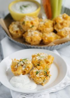 Buffalo macaroni and cheese bites from @bakedbree
