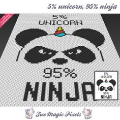 5%%20Unicorn,%2095%%20Ninja%20crochet%20blanket%20pattern;%20c2c,%20cross%20stitch;%20graph;%20pdf%20download;%20no%20written%20counts%20or%20row-by-row%20instructions%20by%20TwoMagicPixels,%20$2.99%20USD