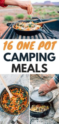 Planning your camping menu is easy with the 16 One Pot Camping Meals! You don't have to use every pot and pan you own to make great camping food. Find your new favorite camping recipe here! meals for camping 16 One Pot Camping Meals Food To Take Camping, Camping Meal Planning, Camping Menu, Camping Cooking, Camping Food Healthy, Healthy Camping Meals, Camping Tips, Backpacking Recipes, Tent Camping
