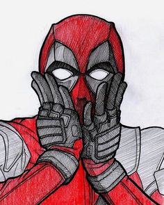 deadpool drawing - Drawing Tips zeichnungen Funny Drawings, Cool Art Drawings, Cartoon Drawings, Easy Drawings, Drawing Sketches, Drawing Tips, Drawing Drawing, Deadpool Painting, Deadpool Fan Art