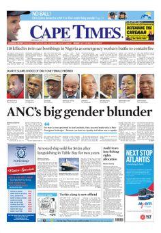 News making headlines: ANC's big gender blunder